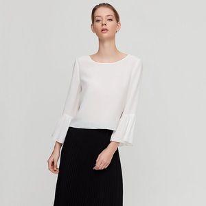 Aritzia white blouse